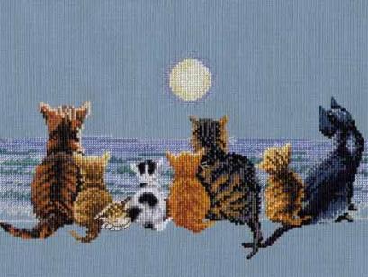 Вышивка крестом кошки схемы