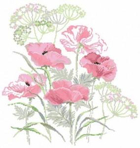 Вышивка крестом схемы бесплатно цветы