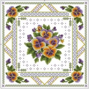 Вышивка цветов крестиком схемы