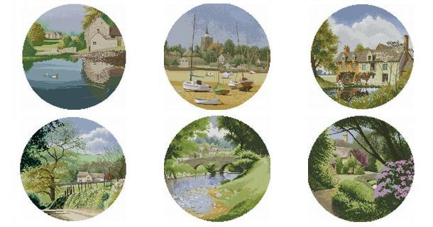 Бесплатные схема вышивок монохром пейзажи городские