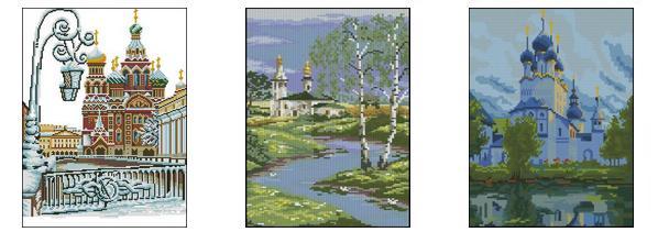 Схемы вышивки крестом «Храмы»